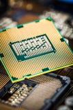 Современные процессор и материнская плата Стоковое фото RF