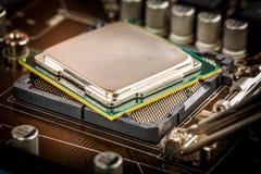 Современные процессор и материнская плата Стоковое Изображение