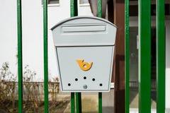 Современные серые коробки почты металла Стоковая Фотография