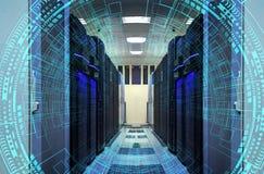 Современные сеть сети и технология радиосвязи интернета, концепция дела компьютерного обслуживания большого облака хранения данны стоковое фото rf