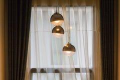 Современные сферически лампы смертной казни через повешение Стоковая Фотография RF