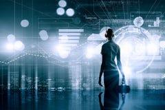 Современные технологии в деле Стоковое Изображение RF