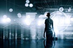 Современные технологии в деле Стоковое Фото
