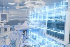 Современные технологии в операционной больницы стоковое изображение rf