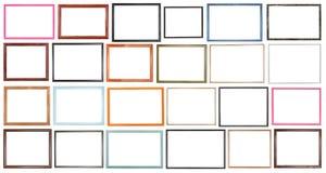 Современные узкие деревянные изолированные картинные рамки Стоковая Фотография