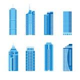 Современные установленные небоскребы Стоковые Фотографии RF