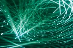 Современные фары лучи зеленого цвета предпосылки света стоковая фотография