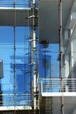 Современные фасад, стекло и сталь здания Стоковое Фото