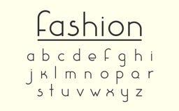 Современные шрифт и алфавит вектора моды Стоковая Фотография RF