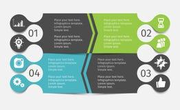 Современные infographic установленные линии Шаблон для представления, диаграммы, диаграммы Стоковая Фотография