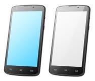 Современные smartphones экрана касания изолированные на белизне Стоковые Фотографии RF