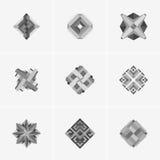 Современный абстрактный дизайн логотипа или элемента Самое лучшее для идентичности и логотипов Стоковое Фото