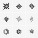 Современный абстрактный дизайн логотипа или элемента Самое лучшее для идентичности и логотипов Стоковые Фотографии RF