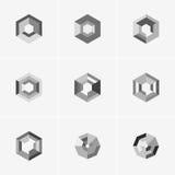 Современный абстрактный дизайн логотипа или элемента Самое лучшее для идентичности и логотипов Стоковое Изображение RF