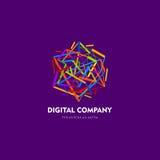 Современный абстрактный дизайн логотипа или элемента Самое лучшее для идентичности и логотипов Простая форма Стоковое Фото
