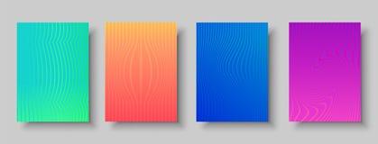 Современный абстрактный комплект предпосылки картин цвета иллюстрация вектора