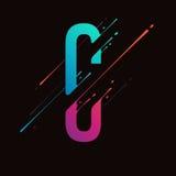 Современный абстрактный красочный алфавит Динамические жидкостные чернила брызгают письмо Элемент дизайна вектора для вашего иску Стоковые Фото