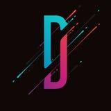 Современный абстрактный красочный алфавит Динамические жидкостные чернила брызгают письмо Элемент дизайна вектора для вашего иску Иллюстрация вектора