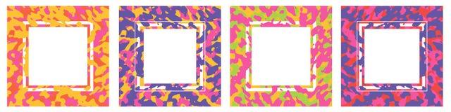 Современный абстрактный красочный набор карт Винтажные цвета и органическая концепция форм иллюстрация вектора