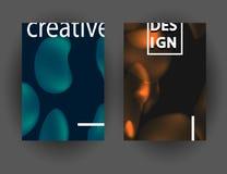 Современный абстрактный красочный состав форм жидкости для дизайна плаката Минимальные крышки brigth установили для рогульки, кры Иллюстрация штока