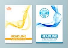Современный абстрактный шаблон дизайна брошюры, отчета или рогульки Стоковое Изображение