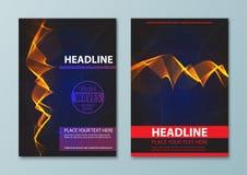 Современный абстрактный шаблон дизайна брошюры, отчета или рогульки Стоковые Изображения RF