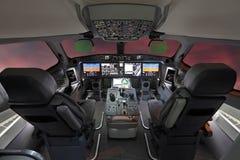 Современный авиалайнер стоковые изображения rf