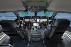 Современный авиалайнер стоковая фотография