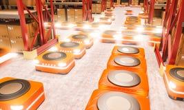 Современный автоматизированный склад стоковая фотография