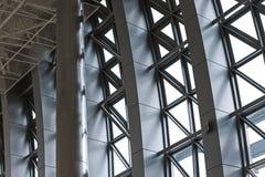 Современный алюминиевый крупный план фасада E Стоковое фото RF