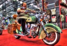 Современный американский индийский винтажный мотоцикл Стоковая Фотография RF