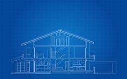 Современный американский раздел фасада дома иллюстрация вектора