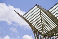 Современный архитектурный дизайн вокзала Стоковая Фотография