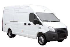Современный белый фургон Стоковое Изображение