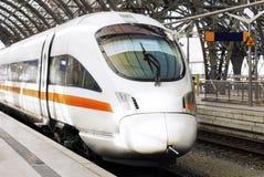 Современный быстроходный поезд. Германия Стоковое Фото