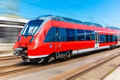 Современный быстроходный поезд Стоковые Фото