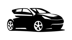 Современный вектор автомобиля Стоковые Фотографии RF