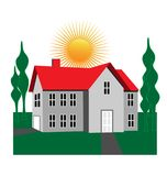 Современный вектор иллюстрации дома иллюстрация штока