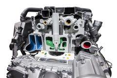 Современный двигатель автомобиля природного газа Стоковые Изображения