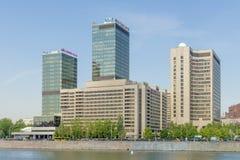 Современный всемирный торговый центр города Москвы делового центра Стоковое фото RF