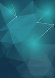 Современный геометрический зеленый цвет предпосылки конспекта формы Стоковые Фотографии RF