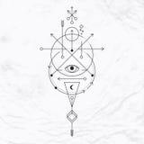 Современный геометрический символ алхимии Стоковые Фото