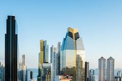 Современный горизонт города здания небоскреба Панама (город) - Стоковое Фото