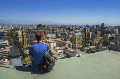 Современный городской пейзаж Сантьяго de Чили Стоковая Фотография