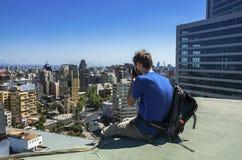 Современный городской пейзаж Сантьяго de Чили Стоковое Изображение RF