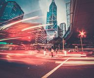 Современный город на ноче Стоковая Фотография RF