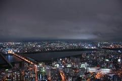Современный город ночи, ¼ ŒJapan Osakaï Стоковые Фото
