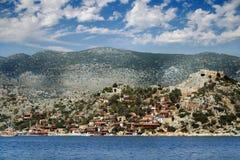 Современный город - остров листовой капусты Simena Стоковое фото RF
