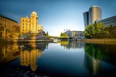Современный городской пейзаж вены стоковая фотография rf