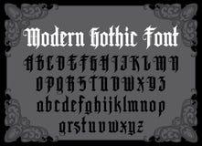 Современный готический шрифт Стоковое Изображение RF
